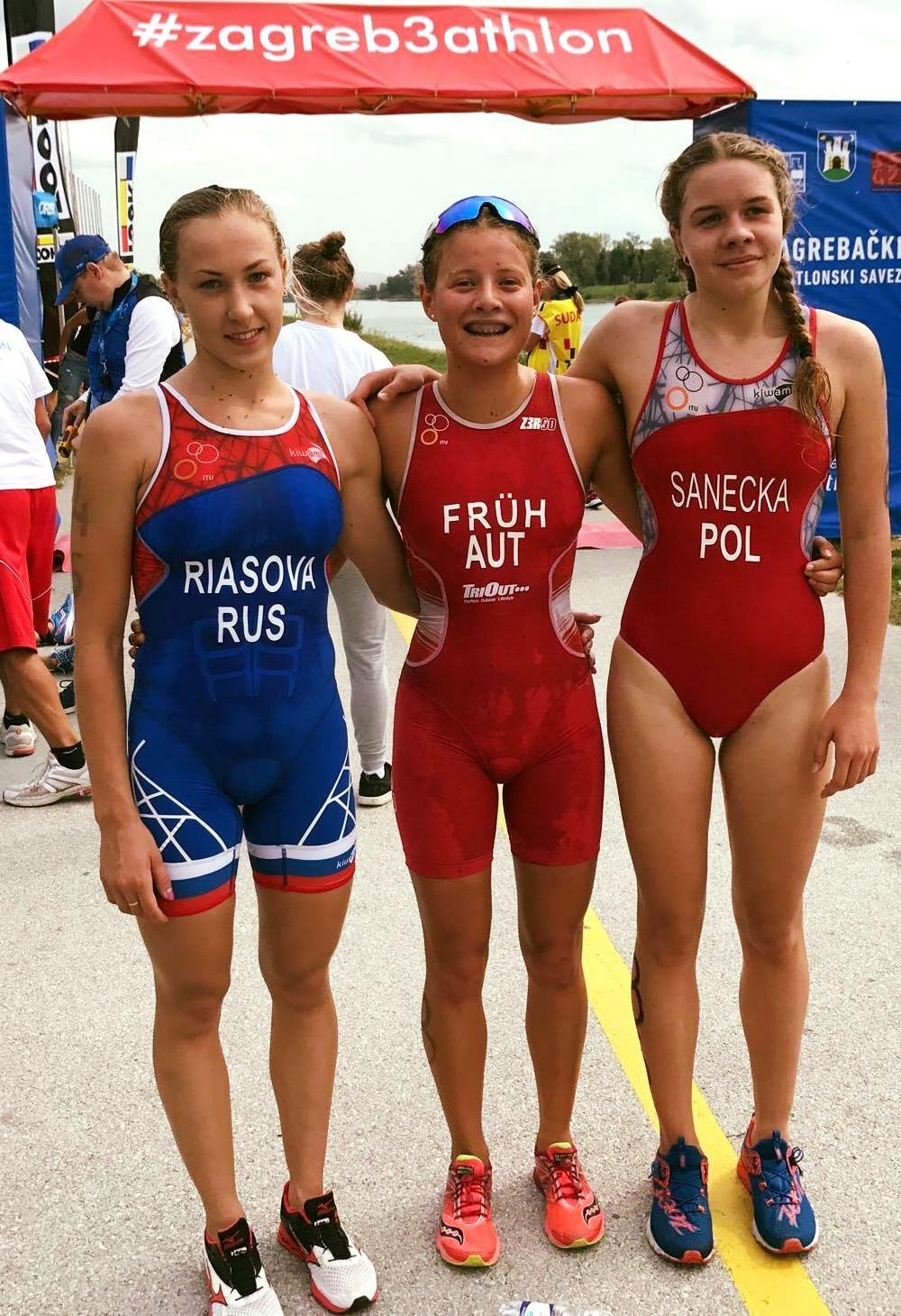 Julia Sanecka po zawodach w Zagrzebiu