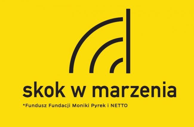 Skok w marzenia - logo funduszu stypendialnego Moniki Pyrek