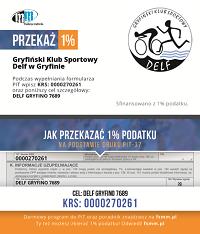 1% dla Delfa Gryfino