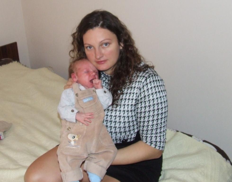 Agnieszka Janicka z synkiem Hubertem