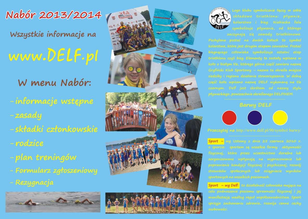 Ulotka reklamowa do naboru do grupy triathlonowej Delf_rewers