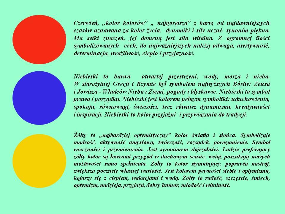 Barwy Delf: czerwony, niebieski, żółty