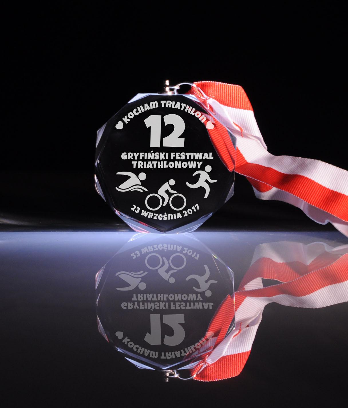 Medal 12 Gryfińskiego Festiwalu Triathlonowego Kocham Triathlon