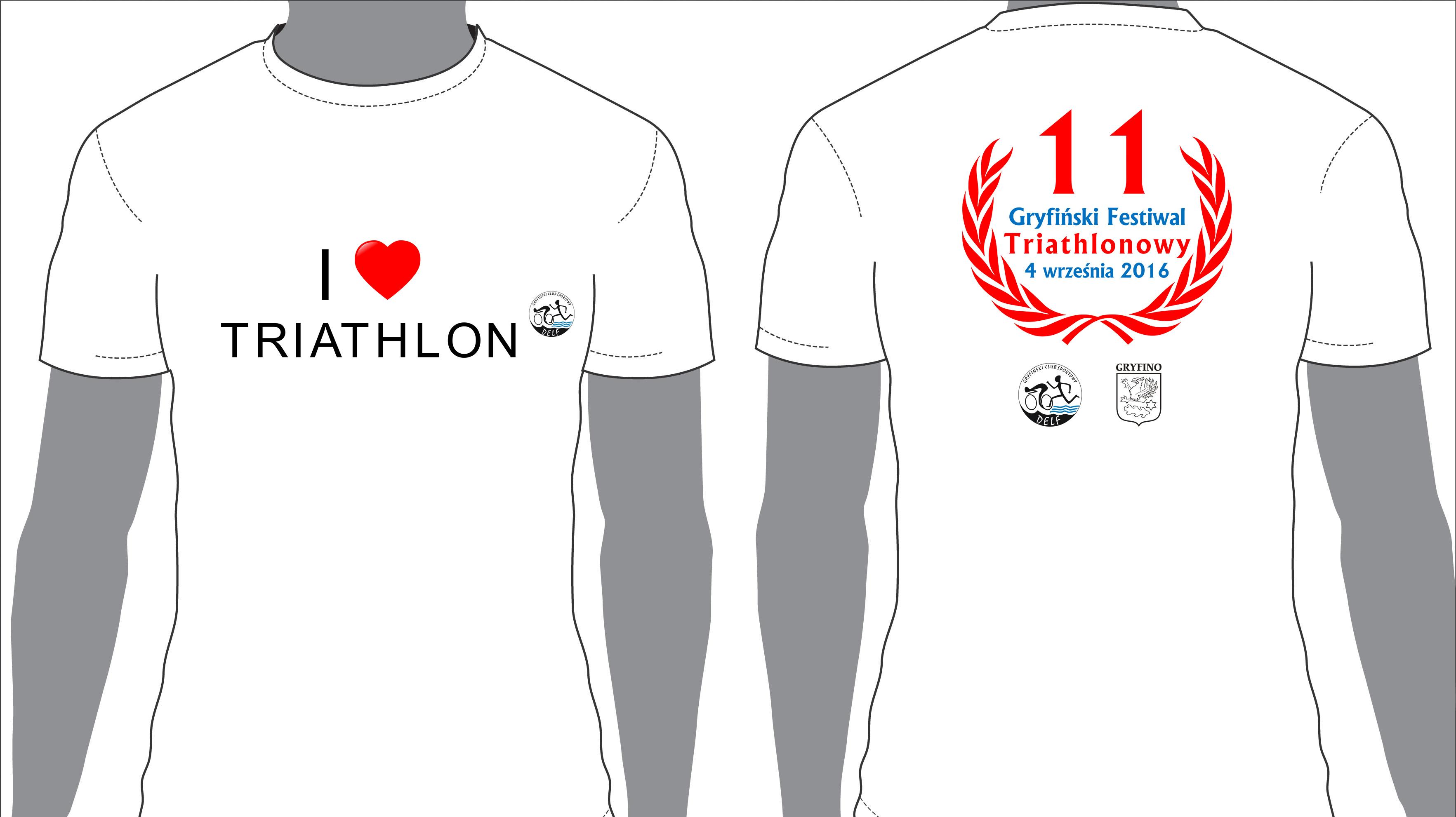 Koszulka festiwalowa 2016 - 11 Gryfińskiego Festiwalu Triathlonowego